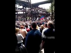 Ukraine, Украина, Yenakiieve, Енакиево 04 05 2014 Митинг