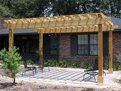 pergola designs | Pergolas and Arbors Idea & Photo Gallery - Enhance Companies - Brick ...