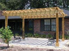 pergola designs | Pergolas and Arbors Idea & Photo Gallery - Enhance Companies - Brick ...