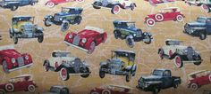 Quilt Cotton Exclusively Quilters Vintage Cars Model T Ford Pickup Roadster