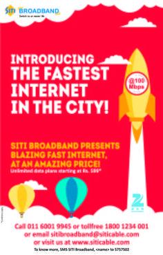 The Fastest Internet(@)SITI Broadband
