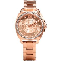 Relógio feminino Coach com pulseira em aço rosé. 14501701