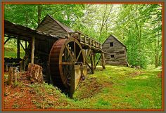 Dellinger Mill in North Carolina in the Smoky Mountains.