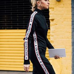 Fascinating, the sportswear look in high fashion.  We want to be casual
