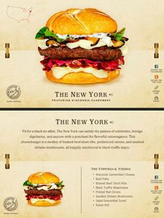 40 Of The Most Delicious-Looking Cheese Burger Combinations Ever - UltraLinx Gourmet Burgers, Burger Recipes, Hamburgers, Big Burgers, Junk Food, Good Food, Yummy Food, Burger And Fries, Braised Beef