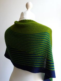 Ravelry: katushika's affectionate / veera color affection shawl in summer greens