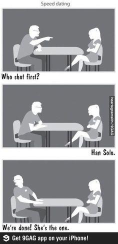 Nerd speed dating comic strip