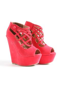 Ermina Suede Super High Strappy Wedges