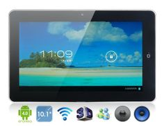 "10.1"" Android 4.0.4 A10 1.2 GHz External 3G Tablet PC with 4GB Hard Drive, Wi-Fi, 1080P Video Playback, GPS, 3..."