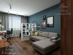 Решение для интерьера комнаты для мамы и дочери в однокомнатной квартире.