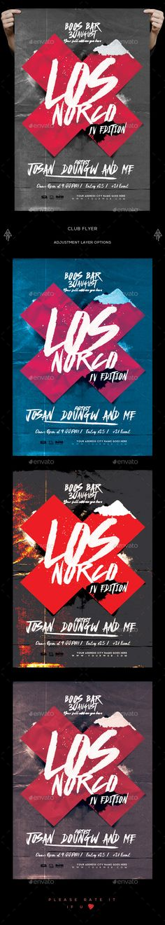 Club Flyer — PSD Template #sound #abstract • Download ➝ https://graphicriver.net/item/club-flyer/18473317?ref=pxcr