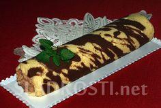 Dvoubarevná roláda s kakaovým krémem