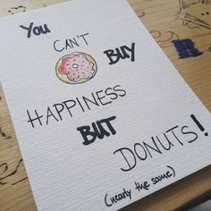Postcard by monstamia #donuts #happiness #illustration #iliketodraw #shopping #drawing onepostcardaday