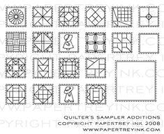 Quilter's Sampler Additions Stamp Set