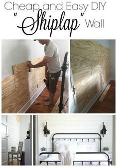 and Easy DIY Shiplap Wall Learn how to make an easy diy shiplap wall with this tutorial. Use plywood to make it the inexpensive way.Learn how to make an easy diy shiplap wall with this tutorial. Use plywood to make it the inexpensive way. Easy Home Decor, Cheap Home Decor, Boho Apartment, Apartment Design, Design Diy, Design Homes, Design Ideas, Diy Décoration, Easy Diy