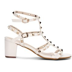 White Lug Sole Open Toe Platform Chunky Sandals (180 PLN) ❤ liked ...