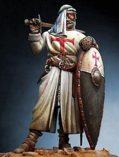 Knights Templar:  Holy Land #Knight #Templar with turban, 13th century.