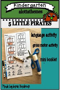 Ah HOY all young pirates! Set sail on a fun learning adventure as you learn about counting down with numbers Published January 19 2020 Alphabet Activities, Language Activities, Motor Activities, Reading Activities, Learning Through Play, Fun Learning, Kindergarten Activities, Preschool, Pirate Names