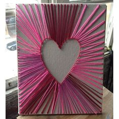 Heart-Shaped String Art