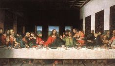LEONARDO DA VINCI-  L´ ULTIMA CENA  (Italian: Il Cenacolo or L'Ultima Cena) is a 15th century mural painting in Milan created by Leonardo da Vinci for his patron Duke Ludovico Sforza and his duchess Beatrice d'Este. It represents the scene of The Last Supper from the final days of Jesus as it is told in the Gospel of John 13:21, when Jesus announces that one of his Twelve Disciples would betray him.
