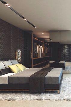 His bachelor bedroom