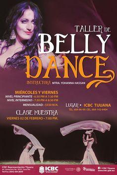 El taller de Belly Dance del ICBC Tijuana esta por empezar.  Hay clases para principiantes e intermedios.  Ven a la clase muestra el VIERNES 2 FEBRERO y conoce sobre la danza del vientre.  Te esperamos en el #ICBCTijuana!