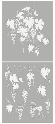 Velké Grapevine vzorník révy vinné Stencils šablony