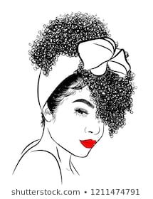 Find Curly Beauty Girl Illustration Isolated On stock images in HD and millions of other royalty-free stock photos, illustrations and vectors in the Shutterstock collection. Black Girl Art, Black Women Art, Drawing Hair Tutorial, Natural Hair Art, Afro Girl, Black Artwork, Sketch Inspiration, Silhouette Art, Magic Art