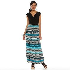 AB Studio Geometric Surplice Maxi Dress - Women's