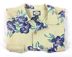TOMMY-BAHAMA-Shirt-RAYON-Short-Sleeve-CAMP-Button-Up-HAWAIIAN-Resort-MENS-M