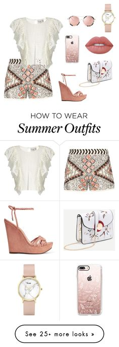 """lovely summer outfit"" by lena-topouzi on Polyvore featuring Dorothy Perkins, Sea, New York, Schutz, Casetify, CLUSE and Lime Crime"