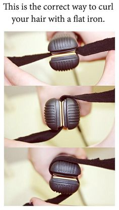 The correct way to flat iron your hair. Apparently, I have been doing it wrong…