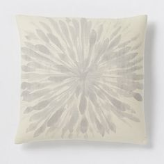 Chrysanthemum Silk Pillow Cover - Platinum - a maybe for the couch!