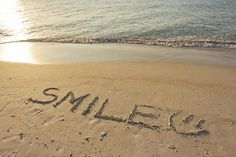 size: Photographic Print: The Word Smile Written in the Sand on a Beach by Mike Theiss : Travel Smile Pictures, Beach Pictures, Beach Pics, Beautiful Pictures, I Love The Beach, Beach Fun, Sand Drawing, Beach Photography Poses, Smile Word