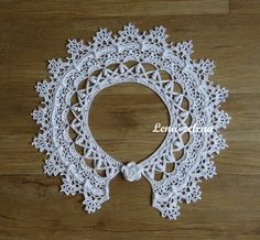 "Photo from album ""Воротничок ""Неаполь"""" on Yandex. Col Crochet, Crochet Poncho, Cape Scarf, Poncho Shawl, Lace Collar, Crochet Earrings, Crochet Patterns, Knitting, Accessories"