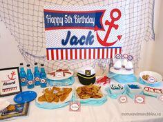 Sailor Birthday Party Ideas - Moms & Munchkins