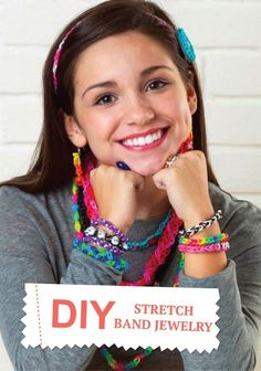 Create colorful stretch band jewelry to match any outfit for back to school this fall. The kids will love making these easy pieces.