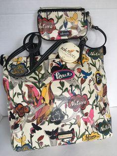 Sakroots Bag Tote 2 Piece  Designer Fashion Nature White Peace Happy  Free Hip  #Sakroots #TotesShoppers