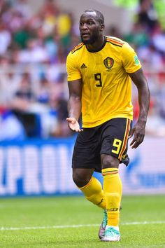 Romelu Lukaku of Belgium reacts during the 2018 FIFA World Cup Russia group G match between Belgium and Tunisia at Spartak Stadium on June 23 2018 in. World Cup 2018, Fifa World Cup, Luke Shaw, All Star, American Football, Football Players, Manchester United, Champion, Soccer
