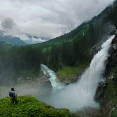 Austria-Breathing  the ambient air of the Krimml waterfall by B℮n, via Flickr