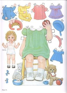 1985 Reproduction of BEST FRIENDS Paper Dolls Publisher: Dover <> Original 1930s by Queen Holden 6 of 16
