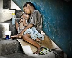 Homeless children in the Philippines. Please keep them in your prayers.