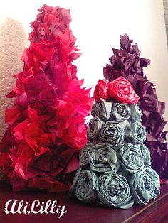 Christmas Tissue Paper Trees
