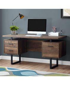 Home Office Furniture: Choosing The Right Computer Desk Bureau Design, Black Desk, Home Office Setup, Home Office Design, Office Decor, Office Workspace, Office Ideas, Office Furniture Stores, Furniture Deals