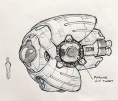 Spaceships concept art by Sean Wang. Spaceship Drawing, Robots Drawing, Spaceship Art, Science Fiction Art, Science Art, Starship Concept, Space Artwork, Alien Concept Art, Found Object Art