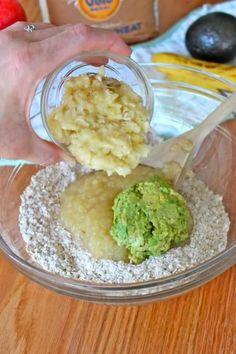 Baby Food Muffins - apple, avocado, banana, oatmeal #babyfoodrecipes