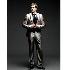Mens Gray Grey Modern Vintage Wedding Prom Tux Tuxedos Dress Suits SKU-123145