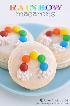 Creative Juice: {MACARONS} rainbow macarons