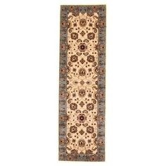 Liberty Oriental Rugs Brillante Cream/Blue Area Rug Rug Size: