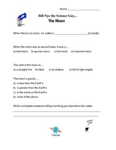 Video Worksheet (Movie Guide) for Bill Nye Light and